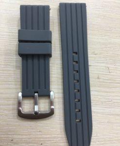 dây đồng hồ cao su silicone màu xám